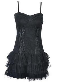 Sukienka-Gorsetowa  Rinascimento 31167-Nero