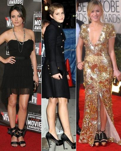 Mila Kunis, Emma Watson, Anna Paquin, fot. Agencja FORUM (archiwum)