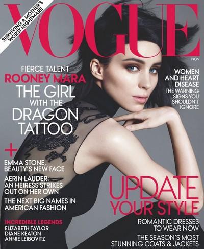 Rooney Mara na okładce magazynu Vogue