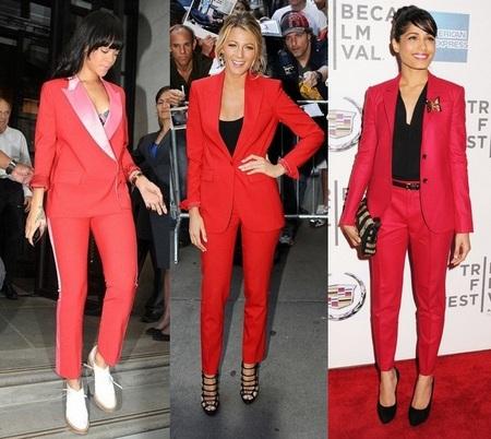 fb1fb197f5 Która gwiazda założyła czerwony garnitur najlepiej